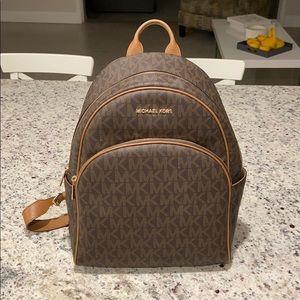 Large Michael Kors Backpack Brown